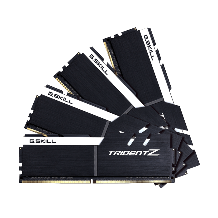 64GB Kit (4 x 16GB) Trident Z DDR4 3200MHz, CL16, Black-White, DIMM Memory