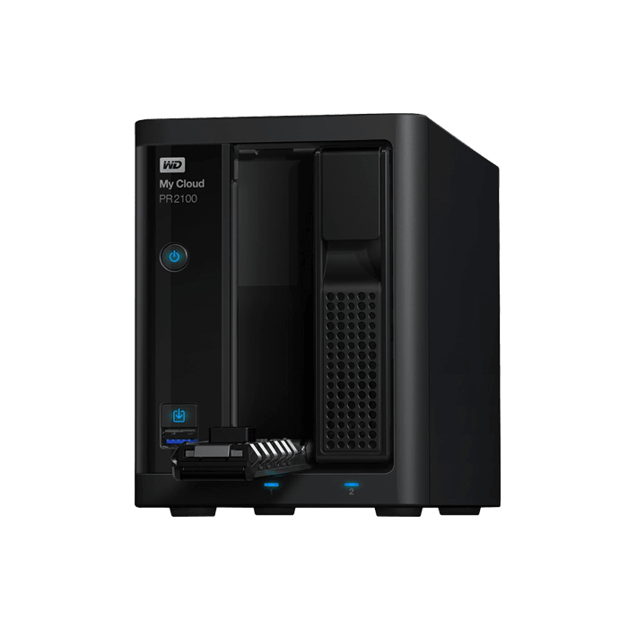 My Cloud Pro Series PR2100 2-bay NAS Server, Intel® Pentium N3710 1.6GHz, 4GB DDR3 RAM, SATA 6Gb/s, GbLAN / 2, USB 3.0 / 2