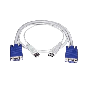 VGA + USB Extension Cable, Male to Female, 10 feet