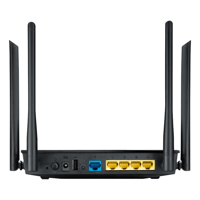 RT-AC1200, IEEE 802.11ac, Dual-Band 2.4 / 5GHz, 300 / 867 Mbps, 4xRJ45, USB 2.0, Retail Wireless Router