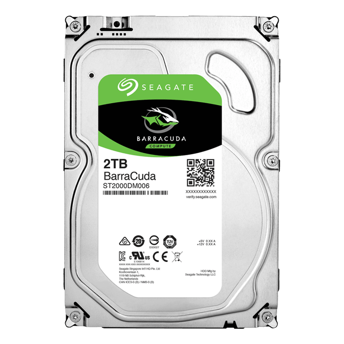 2TB BarraCuda ST2000DM006, 7200 RPM, SATA 6Gb/s NCQ, 64MB cache, 3.5-Inch OEM HDD