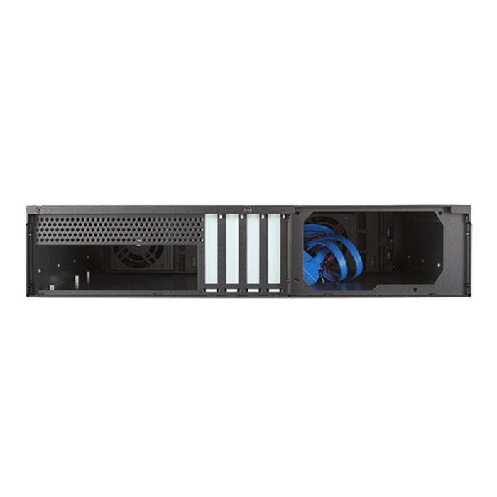 "D-260HB-SILVER, Silver HDD Handle, 6x 3.5"" Hotswap Bays, No PSU, microATX, Black, 2U Chassis"