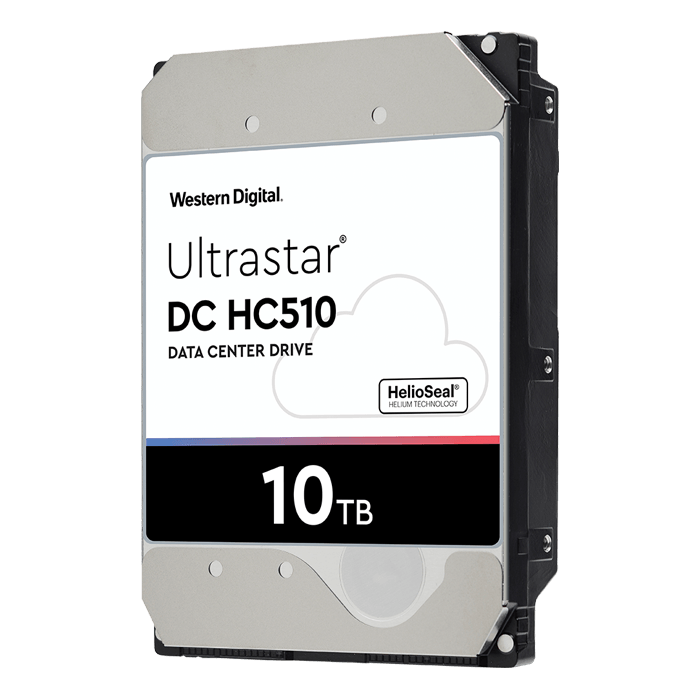 10TB Ultrastar DC HC510 HUH721010ALE600, 7200 RPM, SATA 6Gb/s, 512e, 256MB cache, 3.5-Inch, ISE, w/Power Disable Pin (Pin3) HDD