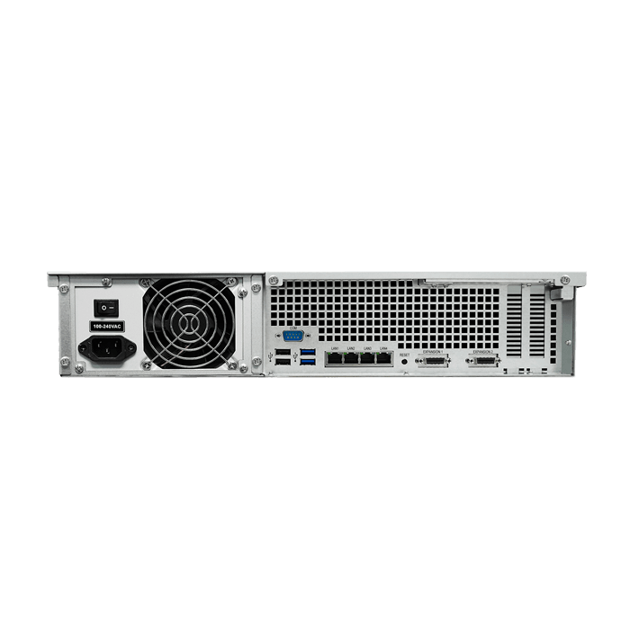 RackStation RS3617xs 2U NAS Server, Intel® Xeon® E3-1230 v2, DDR3-1600 32GB ECC DIMM / 4, SATA3 / 12, GbLAN / 4, 500W Rdt PSU