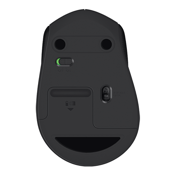 M330 Silent Plus, 1000dpi, Wireless USB, Black, Optical Mouse