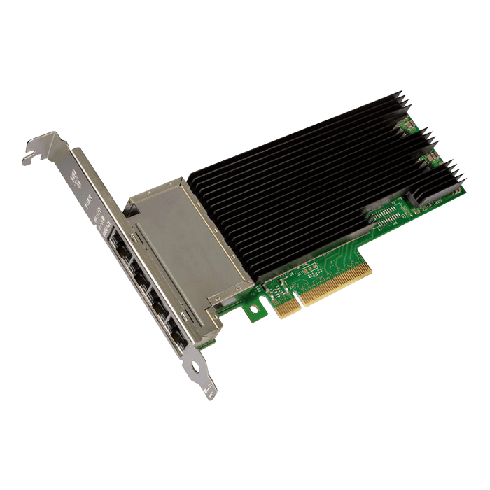 10Gbps Ethernet Converged Network Adapter, X710-T4 Bulk, (4x RJ45)