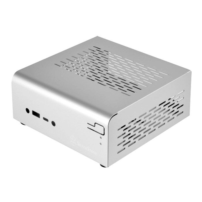 Vital Series SST-VT01S, No PSU, Silver, Compact Mini-STX Case
