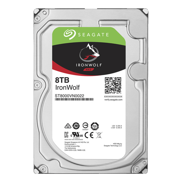 8TB IronWolf ST8000VN0022, 7200 RPM, SATA 6Gb/s, 256MB cache, 3.5-Inch HDD