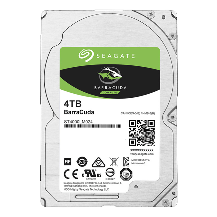 4TB BarraCuda ST4000LM024, 5400 RPM, SATA 6Gb/s, 128MB cache, 2.5-Inch HDD