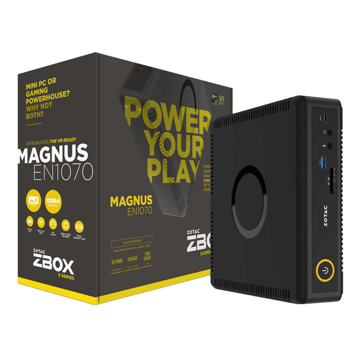 "ZBOX MAGNUS EN1070, Intel Core i5-6400T, 2x DDR4 SO-DIMM, M.2, 2.5"" HDD/SSD, NVIDIA® GeForce GTX 1070, Mini PC Barebone"