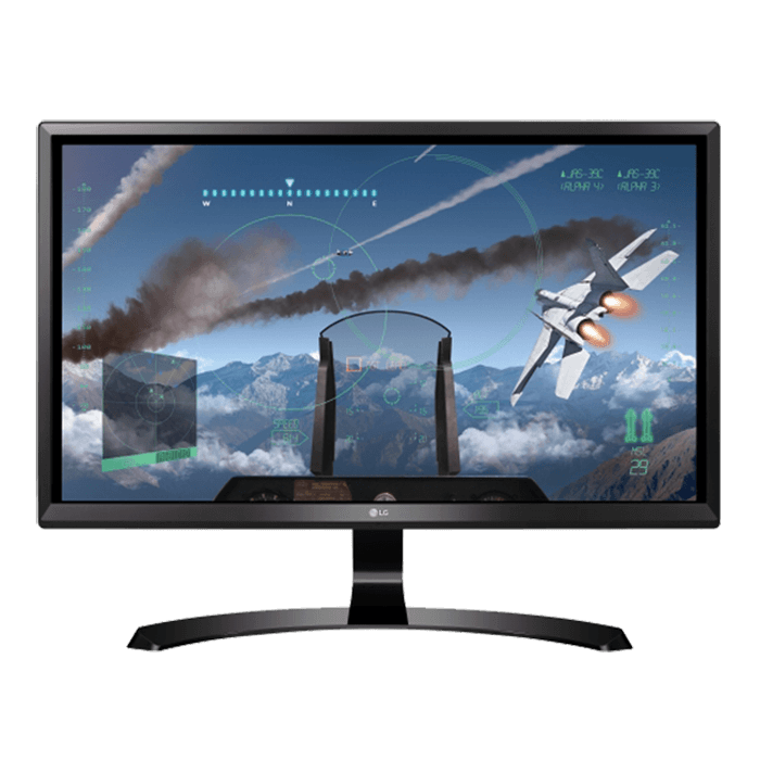"24UD58-B 24"", 4K UHD 3840 x 2160 IPS LED, 5ms, FreeSync, Black LCD Monitor"