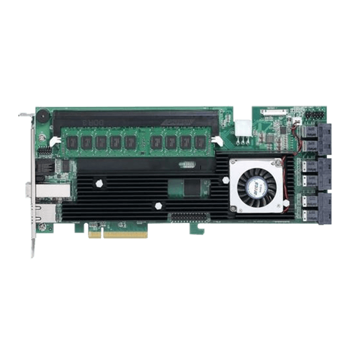 ARC-1883ix-24-8SA, SAS 12Gb/s, 28-Port, PCIe 3.0 x8, Controller with 8GB Cache, Includes 6x MiniSAS HD (SFF-8643) to 4x SATA Breakout Internal Cables