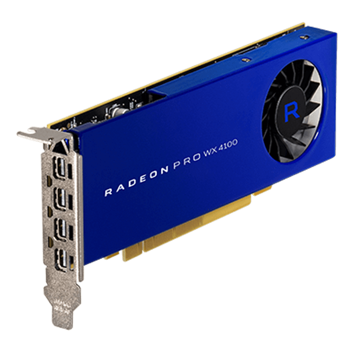 Radeon Pro WX 4100, 1125 - 1201MHz, 4GB GDDR5, Graphics Card