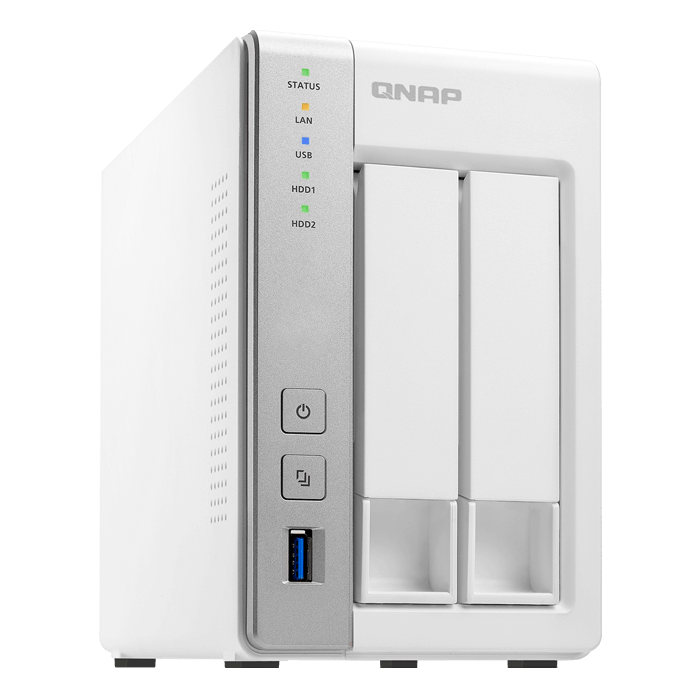 TS-231P 2-bay NAS Server, Alpine AL-212 1.7GHz Dual-core, 1GB DDR3 RAM, SATA 6Gb / s, GbLAN / 2, USB 3.0 / 3, 65W PSU