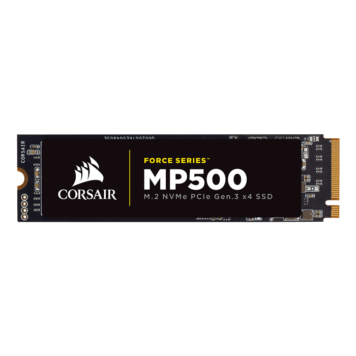 480GB Force MP500 2280, 2800 / 1500 MB/s, MLC NAND, PCIe 3.0 x4 NVMe, M.2 SSD