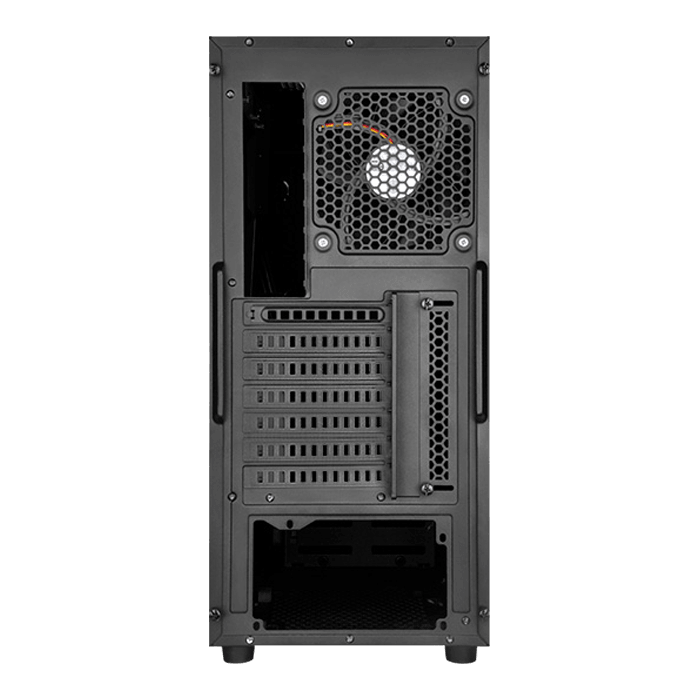 Precision Series SST-PS14B, No PSU, ATX, Black, Mid Tower Case
