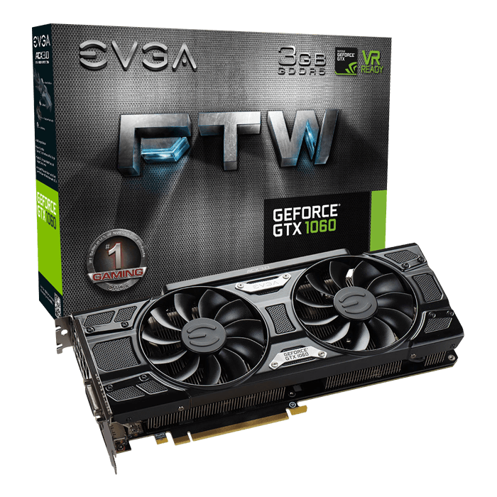 GeForce GTX 1060 FTW GAMING ACX 3.0, 1620 - 1847MHz, 3GB GDDR5, Graphics Card