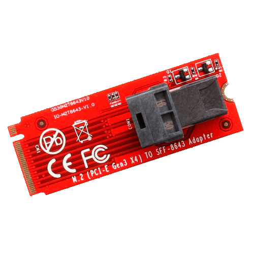 U.2 (SFF-8639) to M.2 M-Key NVMe Adapter