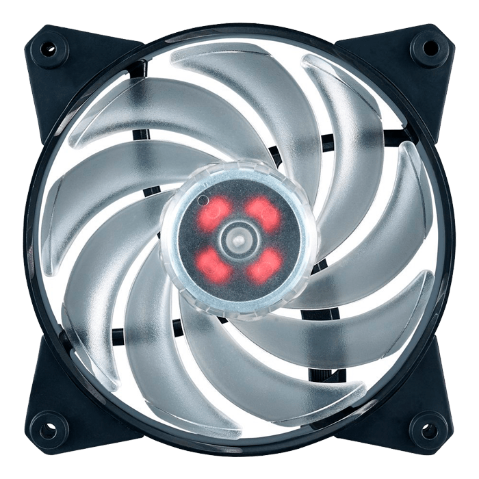 MasterFan Pro Air Balance 120mm w/ RGB LEDs, 1300 RPM, 42.7 CFM, 20 dBA, Cooling Fan