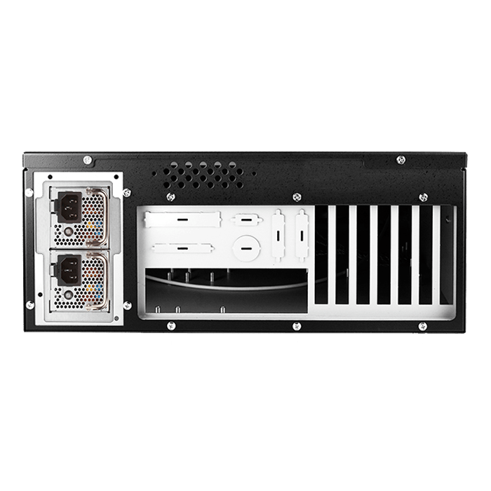 "E Storm Rugged E-4000-50R8PD2, 3x 5.25"" and 2x 3.5"" Drive Bays, 500W Rdt PSU, ATX, Black, 4U Chassis"