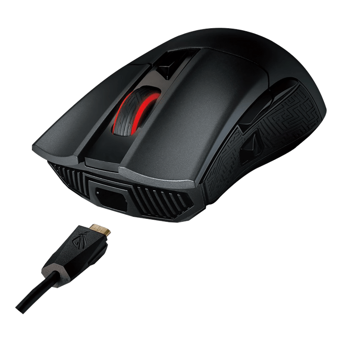 ROG Gladius II, RGB LED, 12000dpi, Wired USB, Black, Optical Gaming Mouse
