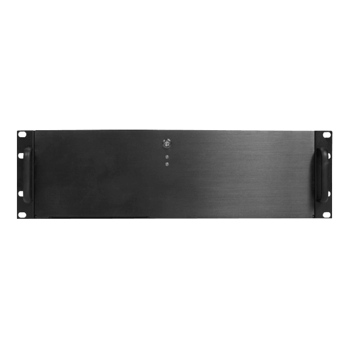 "DN-300, 3x 5.25"" and 4x 3.5"" Drive Bays, No PSU, microATX, Black, 3U Chassis"