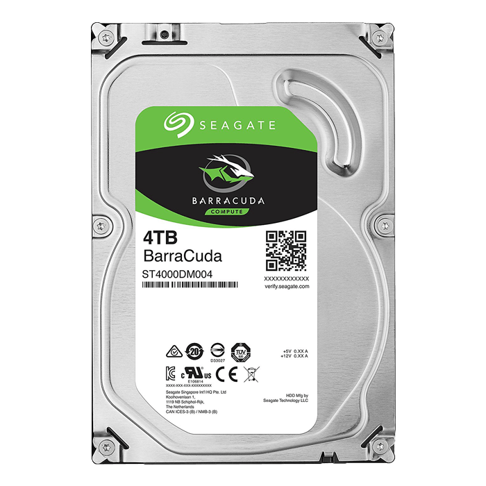 4TB BarraCuda ST4000DM004, 5400 RPM, SATA 6Gb/s, 256MB cache, 3.5-Inch HDD