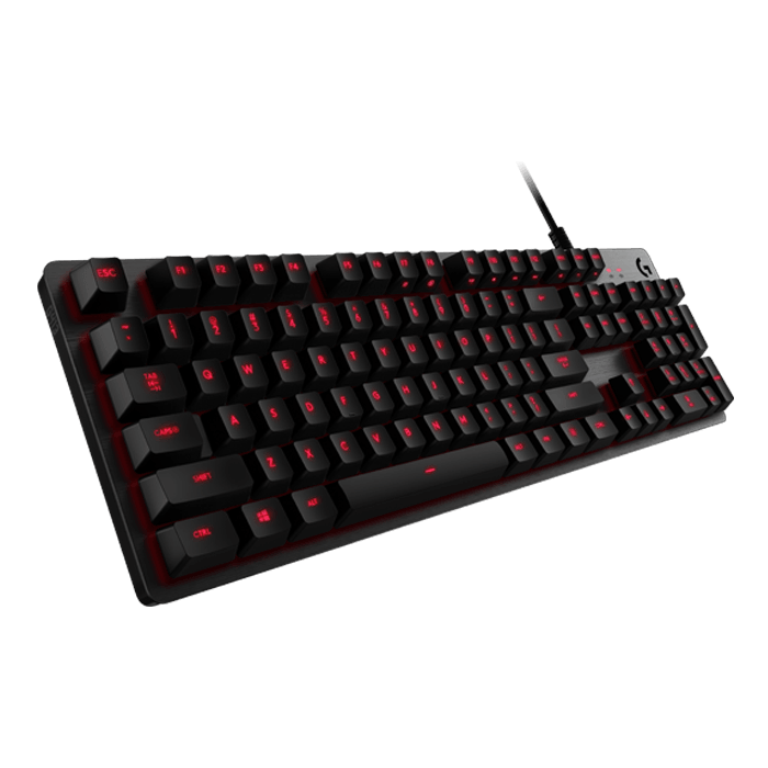 G413, Red LED, Romer-G Switches, Wired USB, Carbon, Mechanical Gaming Keyboard