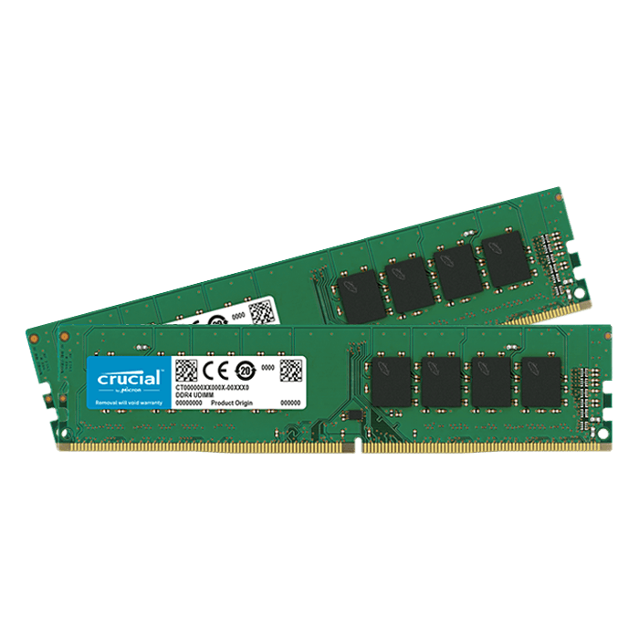 16GB Kit (2 x 8GB) Single-Rank DDR4 2666MHz, CL19, DIMM Memory