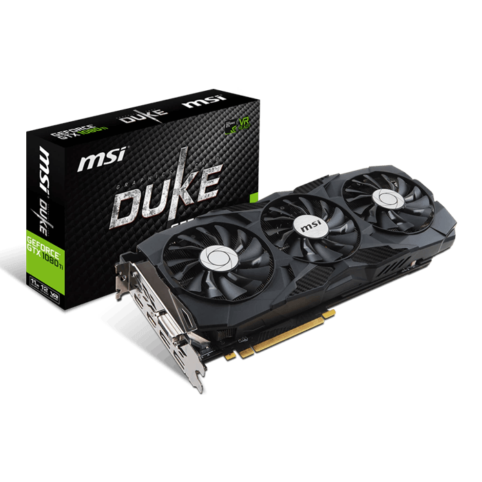 GeForce GTX 1080 Ti DUKE 11G OC, 1531 - 1645MHz, 11GB GDDR5X, Graphics Card