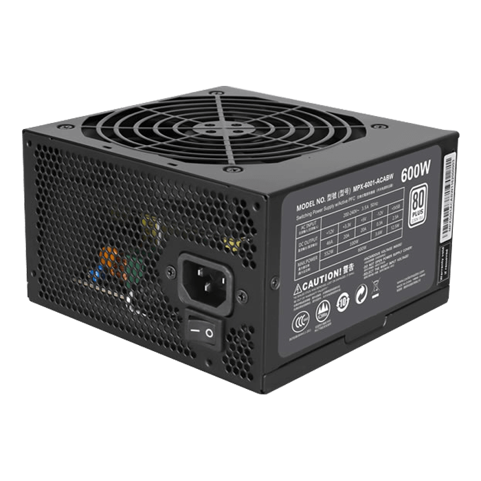 MasterWatt Lite 600, 80 PLUS Standard 600W, No Modular, ATX Power Supply