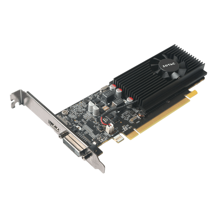 GeForce GT 1030, 1227 - 1468MHz, 2GB GDDR5, Low Profile Graphics Card