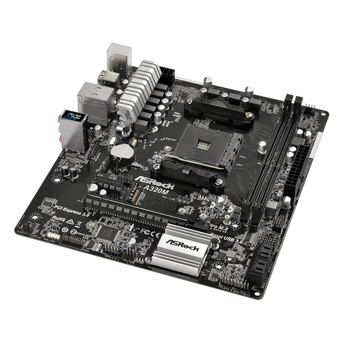 A320M, AMD A320 Chipset, AM4, microATX Motherboard