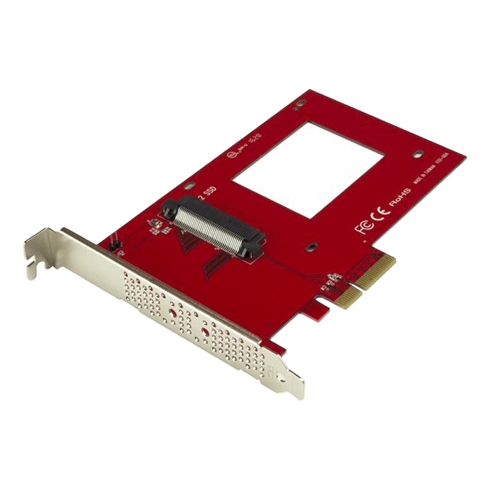 "U.2 to PCIe Adapter for 2.5"" U.2 NVMe SSD - SFF-8639 - x4 PCI Express 3.0"