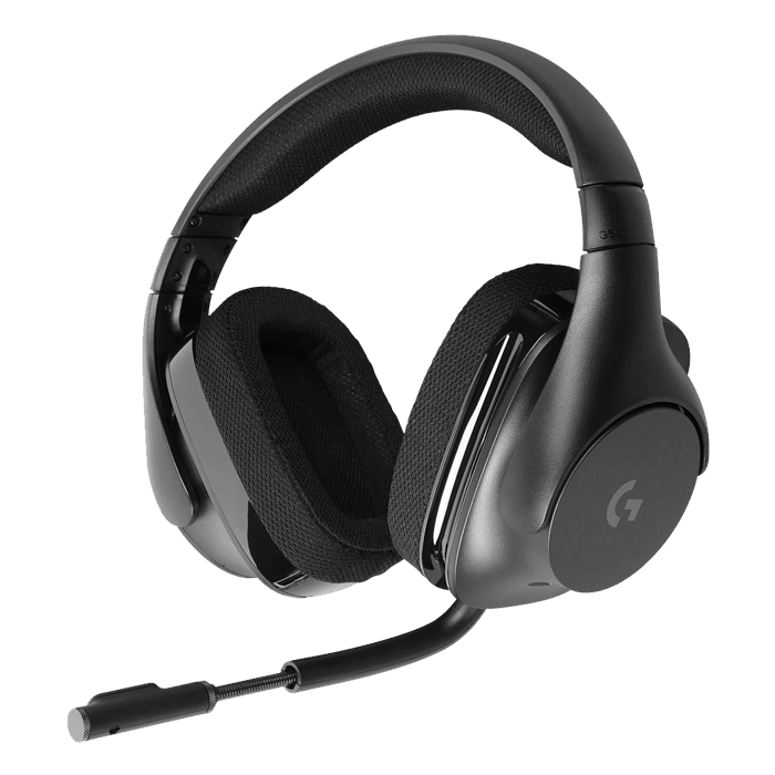 G533 Wireless DTS 7.1 w/ Microphone, Surround Sound, RF USB, Black, Gaming Headset