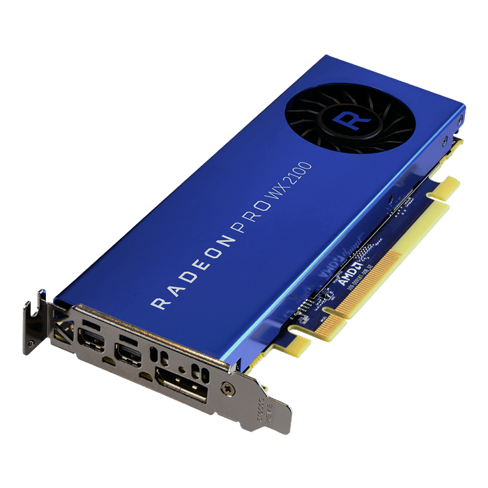 Radeon Pro WX 2100, 1219MHz, 2GB GDDR5, Graphics Card