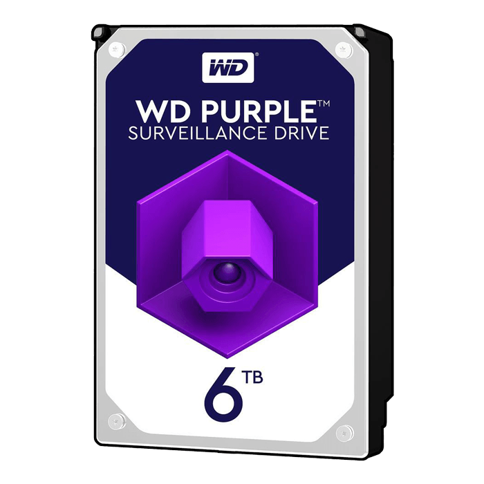 6TB Purple WD60PURZ, 5400 RPM, SATA 6Gb/s, 64MB cache, 3.5-Inch HDD