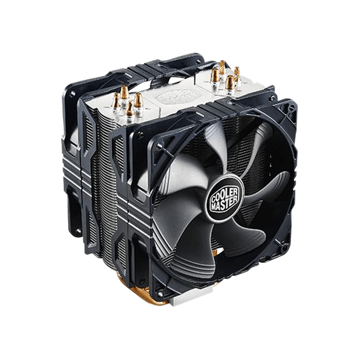 Hyper 212X w/ Dual 120mm PWM Fan, 158mm Height, 150W TDP, Copper/Aluminum CPU Cooler