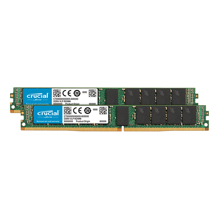 32GB (2 x 16GB) Single-Rank, DDR4 2666MHz, CL19, ECC Registered VLP Memory