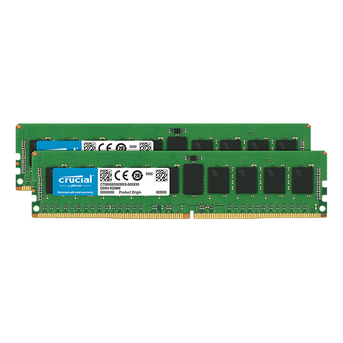 64GB (2 x 32GB) Dual-Rank, DDR4 2666MHz, CL19, ECC Registered Memory