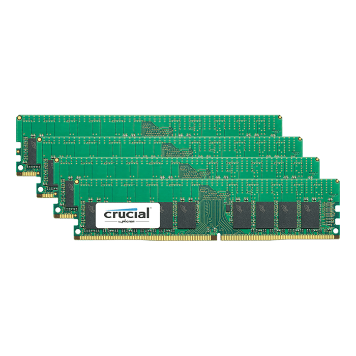 64GB (4 x 16GB) Single-Rank, DDR4 2666MHz, CL19, ECC Registered Memory