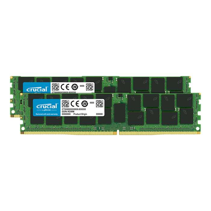 128GB (2 x 64GB) Quad-Rank, DDR4 2666MHz, CL19, ECC Load Reduced Memory