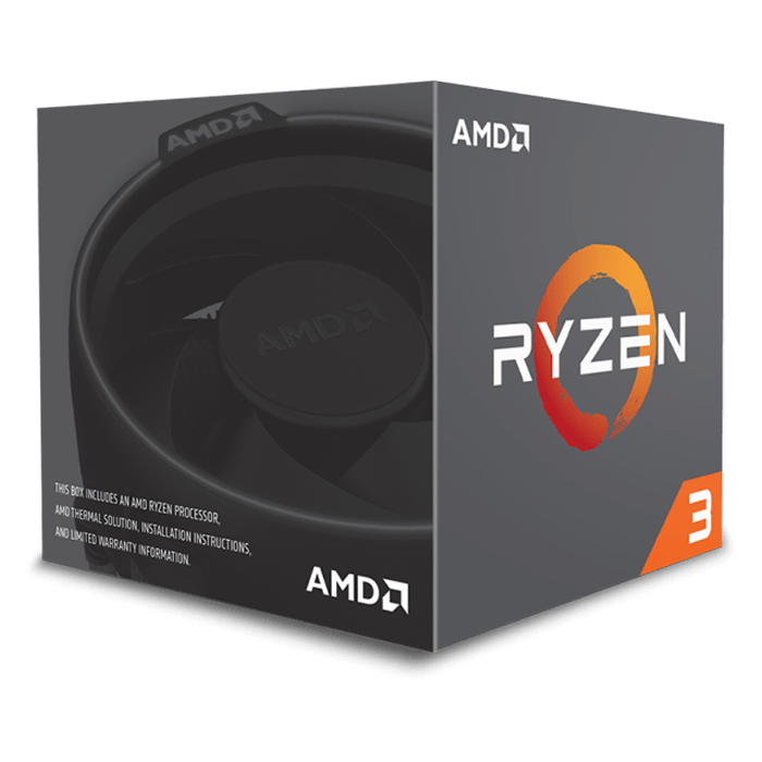 Ryzen™ 3 1300X 4-Core 3.5 - 3.7GHz Turbo, AM4, 65W TDP, Processor