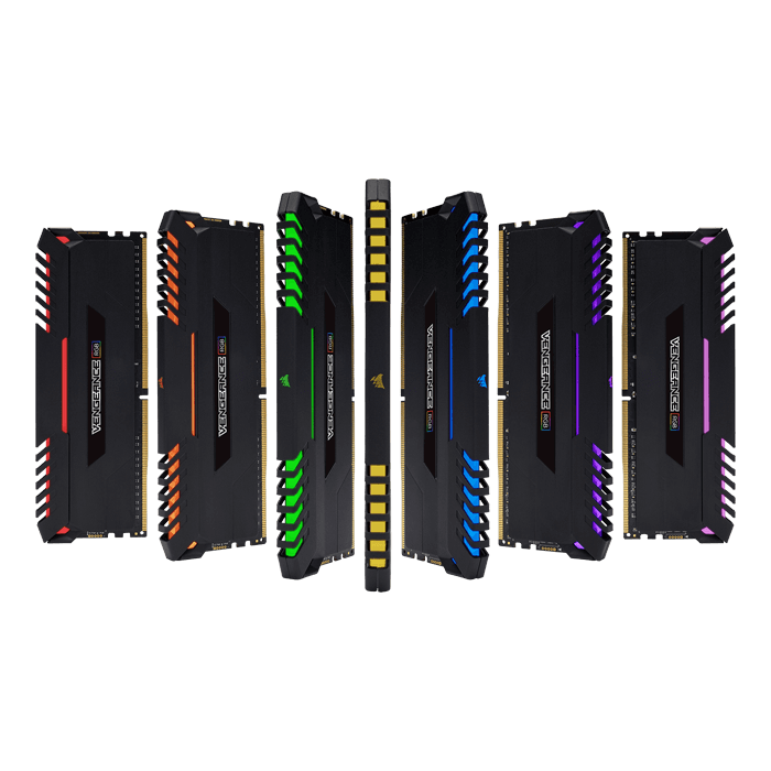 32GB Kit (4 x 8GB) Vengeance RGB DDR4 3333MHz, CL16, Black, RGB LED, DIMM Memory