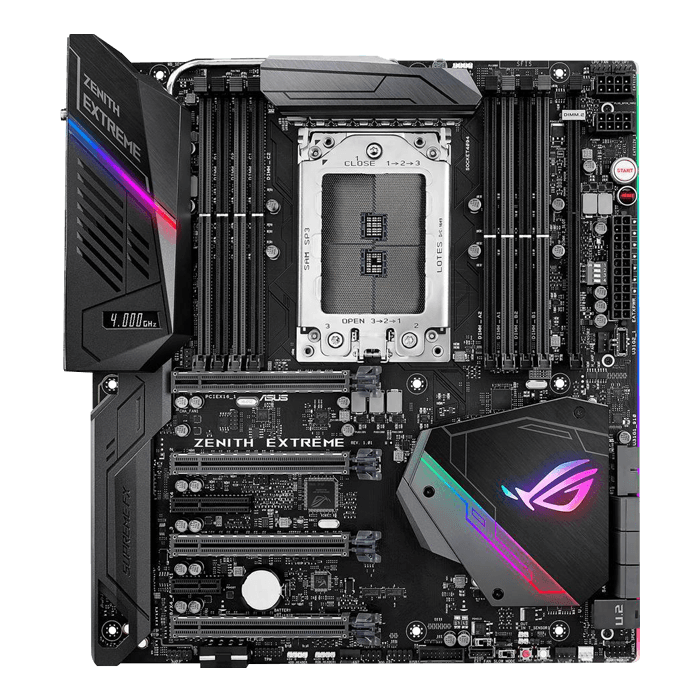 ROG ZENITH EXTREME, AMD X399 Chipset, TR4, E-ATX Motherboard