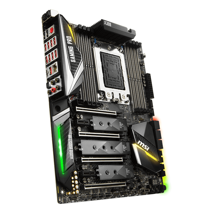 X399 GAMING PRO CARBON AC, AMD X399 Chipset, TR4, ATX Motherboard