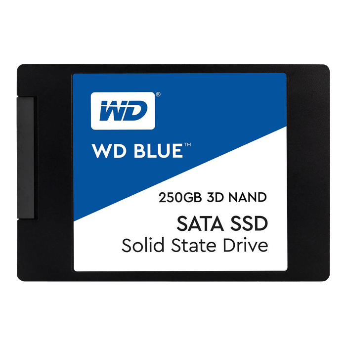 250GB Blue 7mm, 550 / 525 MB/s, 3D NAND, SATA 6Gb/s, 2.5-Inch SSD