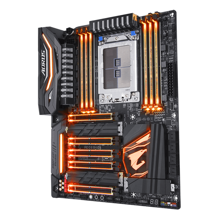 X399 AORUS Gaming 7, AMD X399 Chipset, TR4, ATX Motherboard