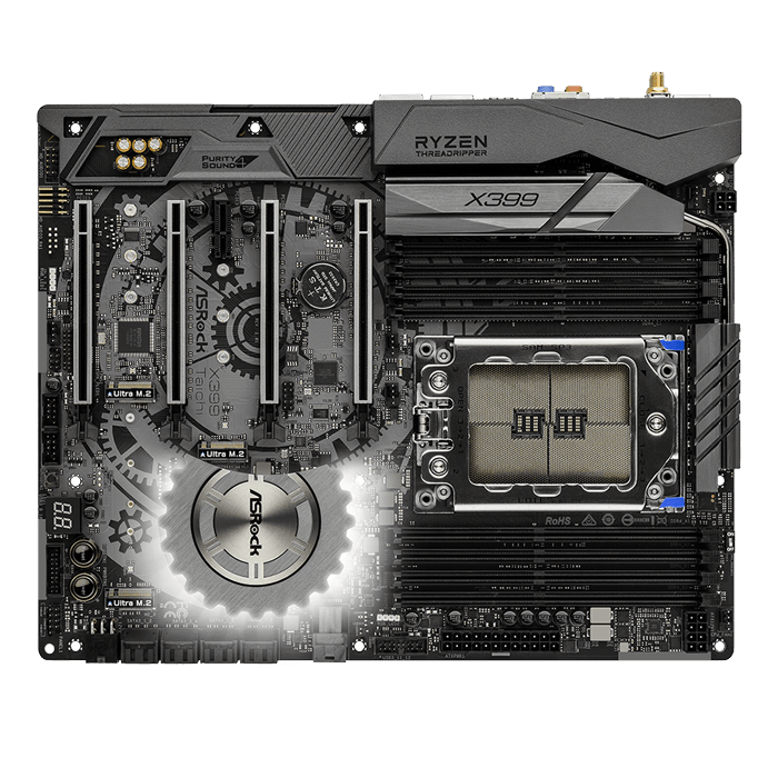 X399 Taichi, AMD X399 Chipset, TR4, ATX Motherboard