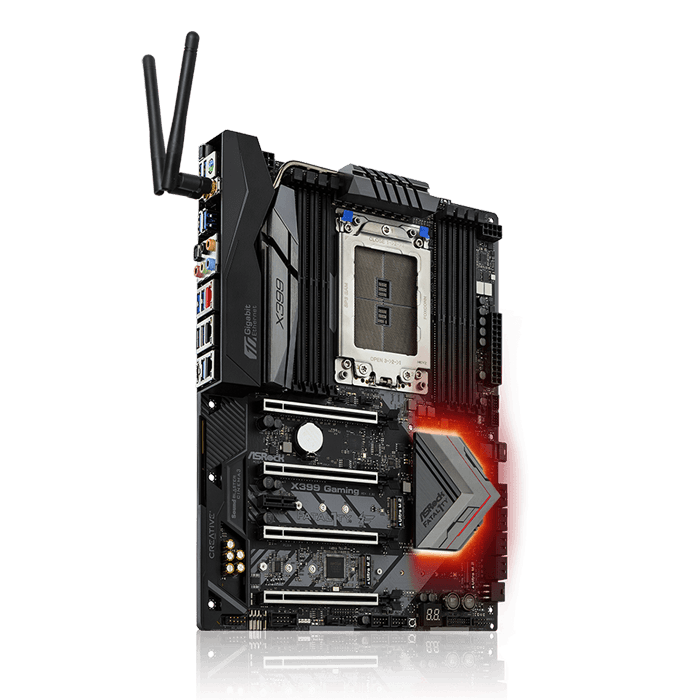 Fatal1ty X399 Professional Gaming, AMD X399 Chipset, TR4, ATX Motherboard